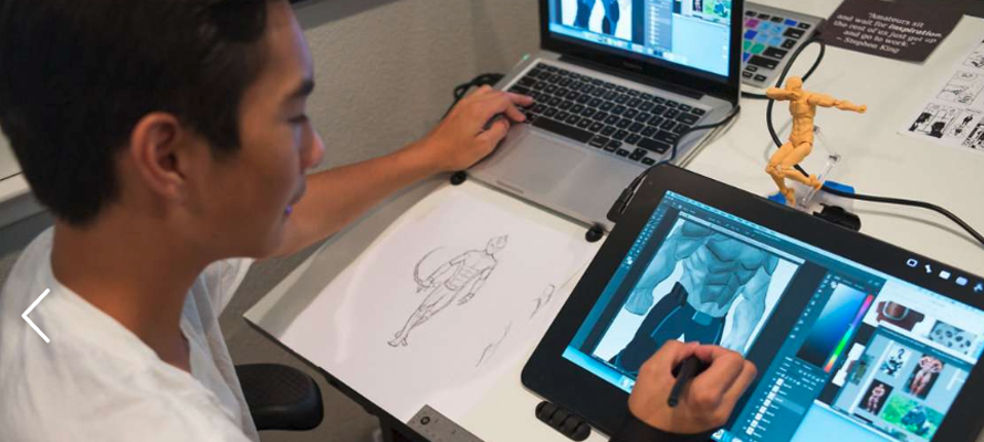 Ethan draws on Wacom Cintiq Pro 166